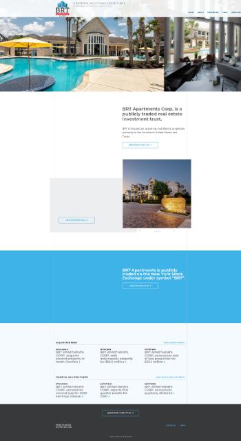 BRT Apartments Corp. Website Screenshot