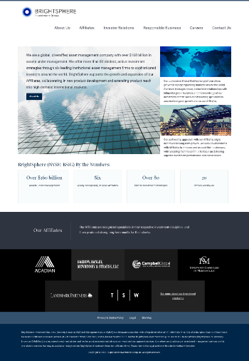 BrightSphere Investment Group Inc. Website Screenshot