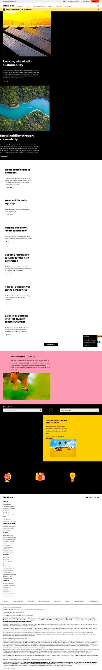 BlackRock Science and Technology Trust Website Screenshot