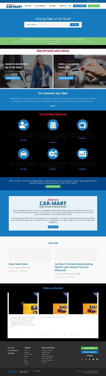Americas Car-mart  Website Screenshot