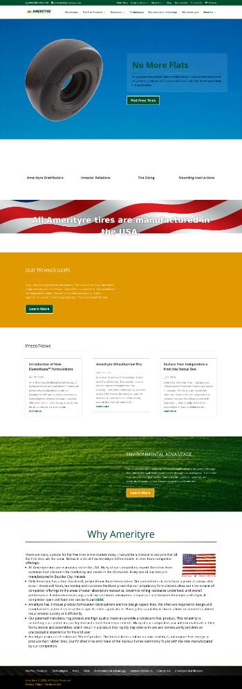 Amerityre Corporation Website Screenshot