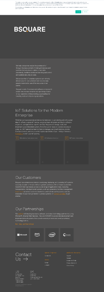 BSQUARE Corporation Website Screenshot