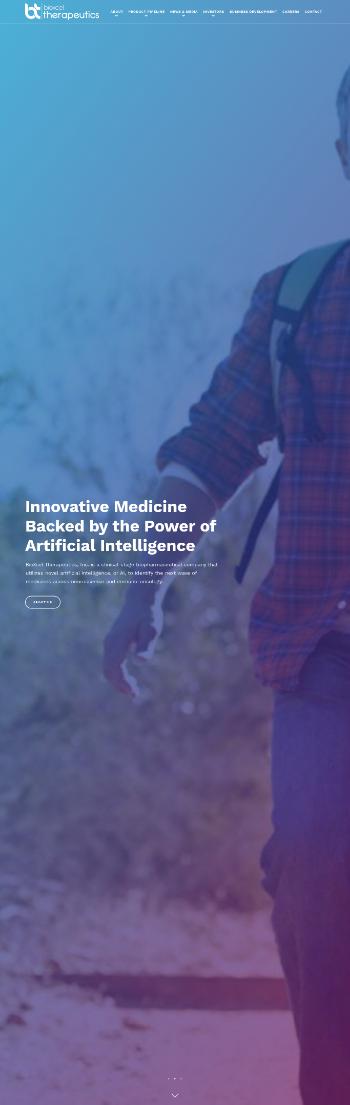 BioXcel Therapeutics, Inc. Website Screenshot
