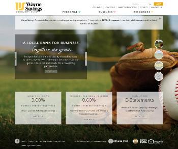 Wayne Savings Bancshares, Inc. Website Screenshot
