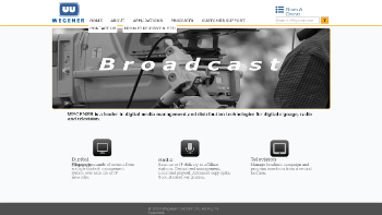 Wegener Corporation Website Screenshot