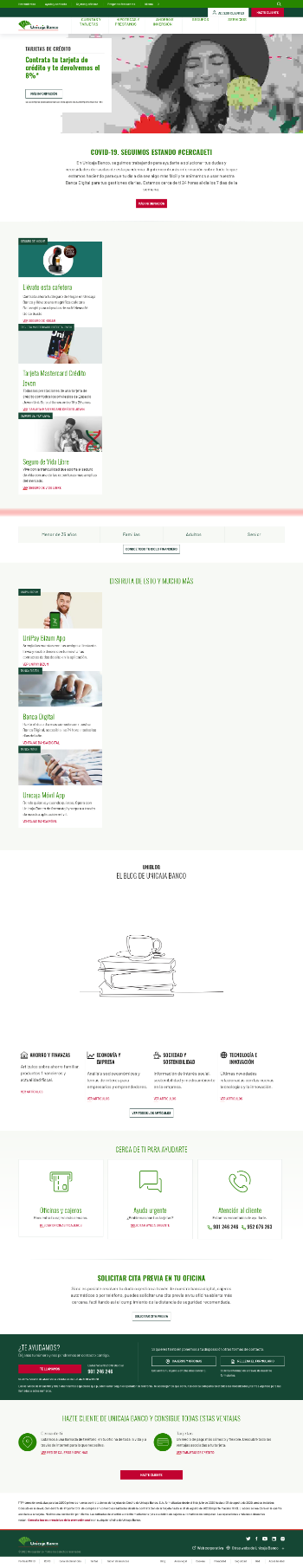 Unicaja Banco, S.A. Website Screenshot