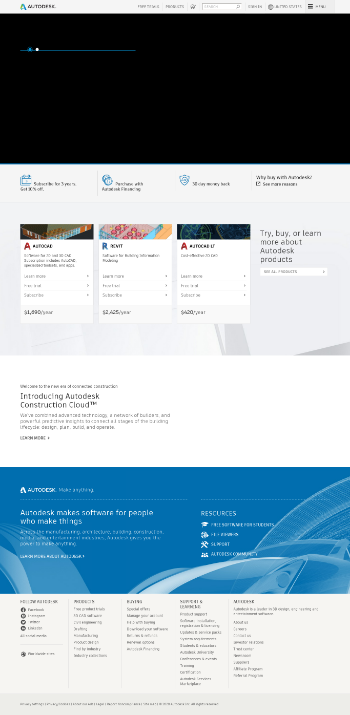 Autodesk, Inc. Website Screenshot