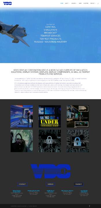 Video Display Corporation Website Screenshot