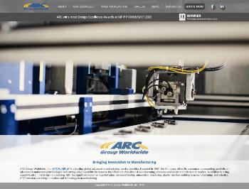 ARC Group Worldwide, Inc. Website Screenshot