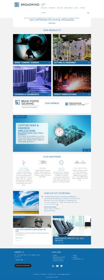 Broadwind, Inc. Website Screenshot