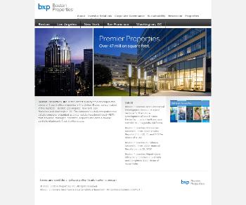 Boston Properties, Inc. Website Screenshot
