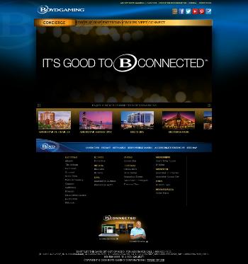 Boyd Gaming Corporation Website Screenshot
