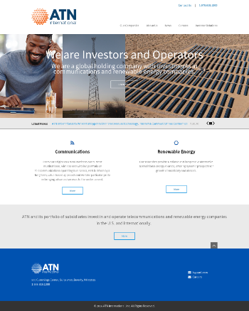 Atlantic Tele-network  Website Screenshot