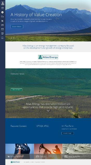 Atlas Energy Group, LLC Website Screenshot