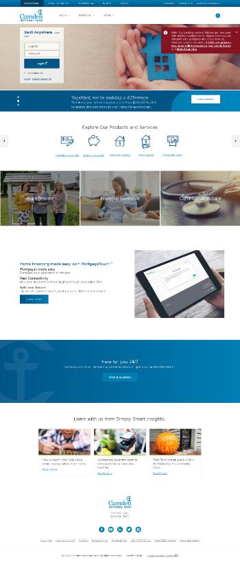 Camden National Corporation Website Screenshot