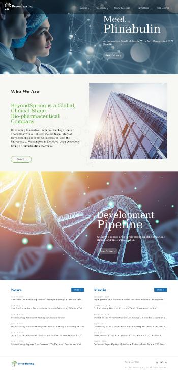 BeyondSpring Inc. Website Screenshot