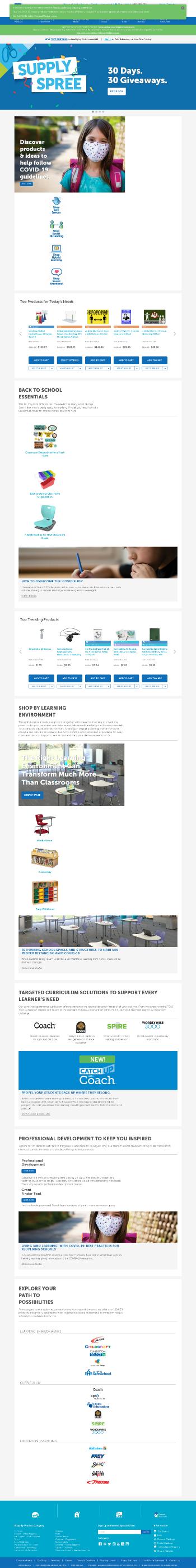 School Specialty, Inc. Website Screenshot