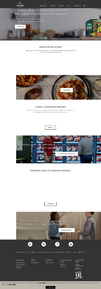 Conagra Brands, Inc. Website Screenshot
