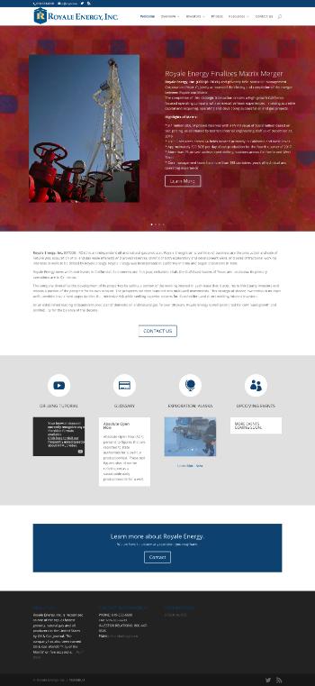 Royale Energy, Inc. Website Screenshot