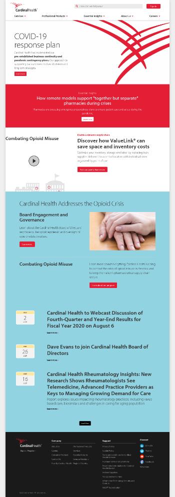 Cardinal Health, Inc. Website Screenshot