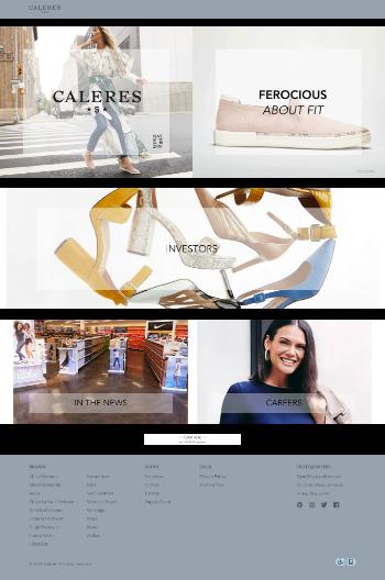 Caleres, Inc. Website Screenshot
