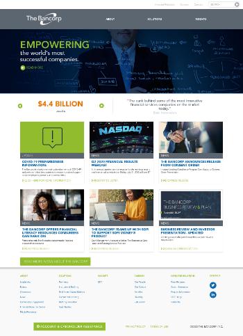 The Bancorp, Inc. Website Screenshot