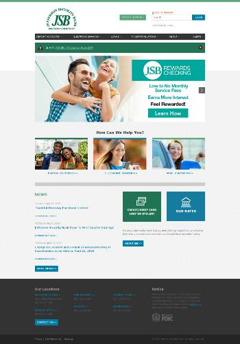 Jefferson Security Bank Website Screenshot